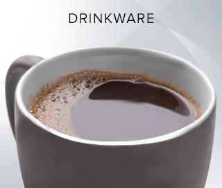 Picture of filled coffee mug. Click to shop Drinkware.